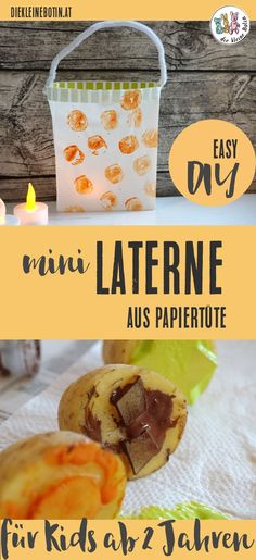 Mini lantern for the little ones - Lantern for the little ones: quick, easy and wonderful handicraft work for children from 2 years. Homemade Food Gifts, Diy Food, The Paper Bag, Lantern Festival, Sand Crafts, Programming For Kids, Infant Activities, Food Pictures, Little Ones