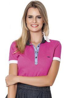 4d05fae7e7 27 melhores imagens de Camisa Polo Feminina