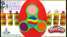 Huevo Sorpresa Gigante de Fidget Spinner Verde Nuevo de Plastilina Play ...