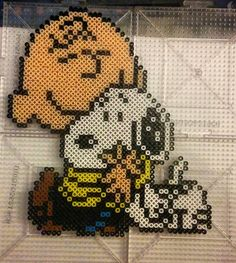 Charlie Brown and Snoopy perler beads by thevendelo