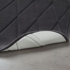 IKEA - UPPVAN, Bath mat, anthracite, This bathmat is made from about 9 recycled l PET bottles. Using waste as a resource brings us one step closer to a more sustainable future. Your feet are cradled in comfort thanks to memory foam filling. Ikea, Pet Bottle, Synthetic Rubber, Footprint, Memory Foam, Bath Mat, Bed Pillows, Design, Master Bathroom