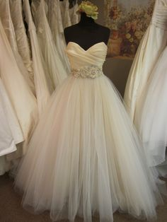 Lazaro ball gown...I LOVE this dress. I keep seeing it on Say Yes to The Dress and on Pinterest. Love love love.