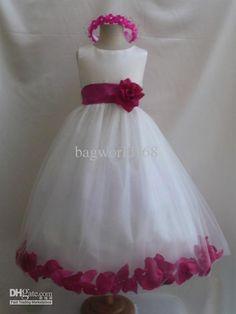 Wholesale Girl Dress - Buy Sleeveless Satin Wedding Flower Girl Dress Party Flower Girls Dress, $79.55 | DHgate