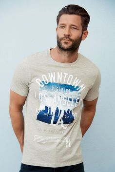 Buy Grey Downtown LA T-Shirt from the Next UK online shop