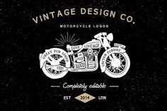 Vintage Motorcycle Logos by Ian Barnard on @creativemarket