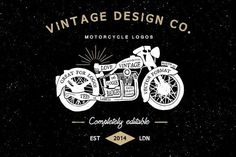 Vintage Motorcycle Logos by Ian Barnard on @creativemarket