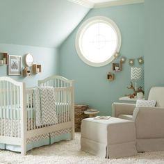 ADORABLE baby boy room!!!!   So comfortable & lovely!  <3