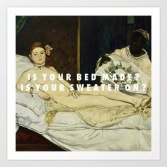 Art History + Vampire Weekend lyrics!!  YES.  Anybody who likes both of these things will understand.
