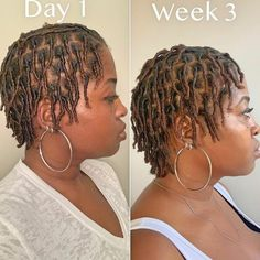 Best Starter Locs with Designs, Methods & Styles , Starter locs hairstyles are generally locs friendly hairstyles. When you decide to grow locs, you need to choose a hairstyle that supports your premat. Short Dread Styles, Dreads Styles For Women, Short Dreadlocks Styles, Short Locs Hairstyles, Short Dreads, New Natural Hairstyles, Twist Hairstyles, Curly Hair Styles, Natural Hair Styles