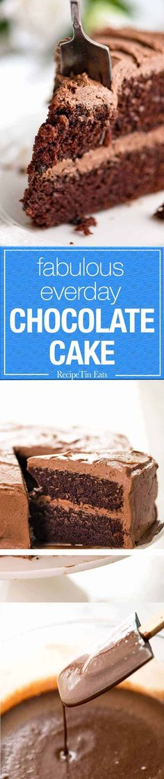 A great, everyday Chocolate Cake that you'll make over and over again. One bowl and a whisk. A crumb that's beautifully tender and moist. It truly tastes of chocolate and keeps for up to 5 days.