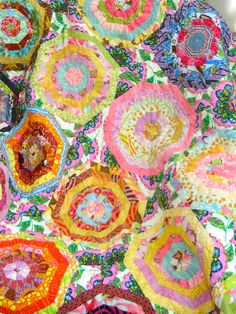 Modern Kaleidoscope Lap Quilt Free Shipping-SALE by QuiltAttic