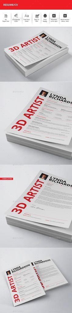 Clean Resume/CV Bundle Creative, Template and Resume cv - resume download
