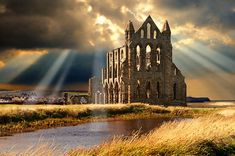 Medieval Gothic Whitby Abbey where Draculas coffin rested when he came to England, Whitby, North Yorkshire, England North Yorkshire, Yorkshire England, Whitby England, Yorkshire Dales, Oxford England, Cornwall England, London England, Northumberland England, York England