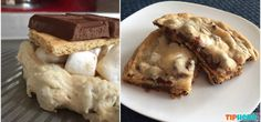 smores | Ooey-Gooey S'mores-Stuffed Chocolate Chip Cookies