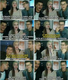 "Teen Wolf cast! haha the part about Sterek ""I'm a Sterek Fan. It's just too great not to be"".... EXACTLY!!"
