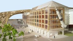 shigeru ban headquarters for swatch + production buildings for omega designboom