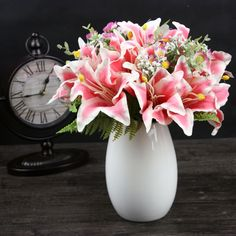 11pcs Artificial Lily Flowers 6 Heads Silk Flowers Real Touch Wedding Flower Fake Lily Flower Bride Bouquet Wedding Decoration |  Cheap Product is Available. We give you the information of finest and low cost which integrated super save shipping for 11pcs Artificial Lily Flowers 6 Heads Silk Flowers Real Touch Wedding Flower Fake Lily Flower Bride Bouquet Wedding Decoration or any product promotions.  I hope you are very happy To be Get 11pcs Artificial Lily Flowers 6 Heads Silk Flowers Real…