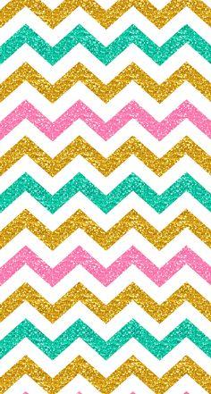 Pastel glitter chevron iphone wallpaper #spring