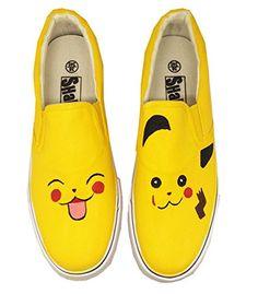 new arrival f4e6a 18144 Custom Pokemon Pikachu Anime Design Women Canvas Shoes Slip-On Low Top  Sneakers (US 9.5 EUR 44 270MM) – Pokemon Canvas Shoes