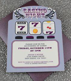 DIY Slot Machine Casino Night Invitation Template from #DownloadandPrint. http://www.downloadandprint.com/templates/slot-machine-casino-night-invitation-template/