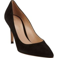 Gianvito Rossi Pointed Toe Pump ($259) ❤ liked on Polyvore