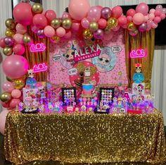 first birthday photo First Birthday Balloons, 6th Birthday Cakes, 7th Birthday Party Ideas, Birthday Party Decorations, Surprise Birthday, Batman Birthday, Tamara, Doll Party, Barbie