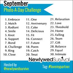 Celebrate your love by participating in the #lovemypartner photo-a-day challenge hosted by Newlywed Survival! #relationship #love #photoaday