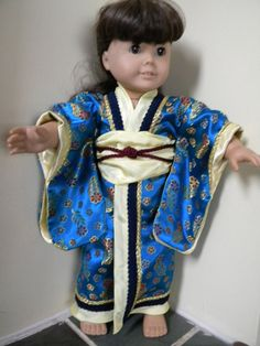 japanese kimono for 18 inch doll by EmilysHemHouse on Etsy, $45.00