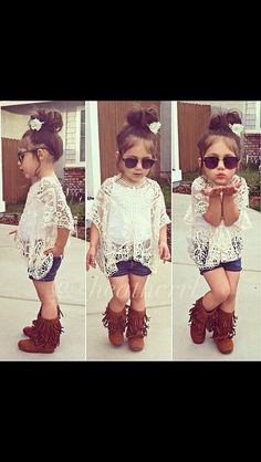 Love this little girls outfit