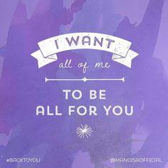 I want . . .