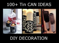 100 Tin can ideas Tin Can Crafts, Metal Crafts, Recycled Crafts, Fun Crafts, Diy And Crafts, Soup Can Crafts, Recycle Cans, Recycling, Reuse