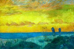 Paul Serusier (1864-1927), Junto al mar en Pouldu, Óleo sobre lienzo, 37 x 55.0 cm
