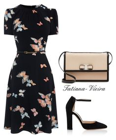 """84"" by tatiana-vieira on Polyvore featuring moda, Gianvito Rossi e Salvatore Ferragamo"