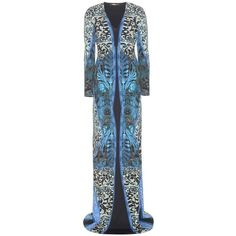 Roberto Cavalli Printed Jersey Dress ($731) ❤ liked on Polyvore featuring dresses