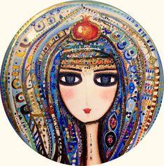 Canan Berber Art Online – 141 Canan Berber – Meral Cetin – Join in the world Aluminum Foil Art, Pomegranate Art, Mosaic Portrait, Eye Painting, Iranian Art, Turkish Art, Tile Murals, Paintings I Love, Felt Art