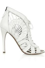 alaia shoes. I love to wear this with the white leather skirt from alaia