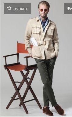 Shirt Cuff, Shirt Jacket, Combat Pants, La Mode Masculine, Safari Jacket, Motorcycle Style, Field Jacket, Sport Coat, Mens Suits