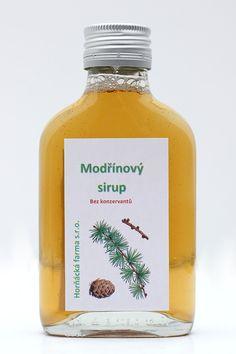 Modřínový sirup / Zboží prodejce Horňácká farma | Fler.cz Honest Tea, Shampoo, Herbs, Drinks, Bottle, Health, Food, Syrup, Drinking