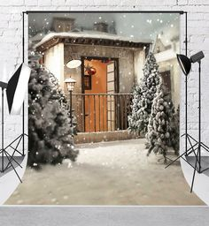Amazon.com : Kate 5x7ft Winter Backdrops for Photography Frozen Snow Background for Wedding Backdrop Booth : Camera & Photo Background For Photography, Photography Backdrops, Frozen Snow, Wedding Background, Christmas Tree, Studio, Amazon, Holiday Decor, Winter