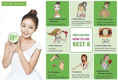 Soothing & Moisture Aloe Vera Gel by Nature Republic , inset 1 Aloe Vera Gel, Aloe Vera Skin Care, Aloe Vera Face Mask, Aloe Vera For Hair, How To Apply Lipstick, How To Apply Makeup, Nature Republic Aloe Vera, Nature Republic Products, After Shave Cream