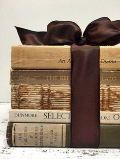 Gorgeous Books,Altered Books,PLATO,Cream and Espresso  by beachbabyblues on Etsy, $58.00