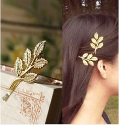 2016 New Fashion hair wear gold plated leaf design Hairpin for girl women ladies Wedding Hair Jewelry Accessories free shipping - http://jewelryfromchina.com/?product=2016-new-fashion-hair-wear-gold-plated-leaf-design-hairpin-for-girl-women-ladies-wedding-hair-jewelry-accessories-free-shipping