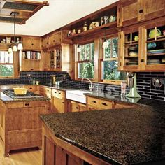 Natural materials and fine craftsmanship are essential to creating a cozy early 20th century kitchen