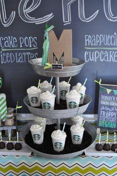 Starbucks  Birthday Party Ideas   Photo 3 of 10