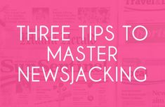 #Newsjacking is an essential tool for public relations professionals and a great way to capture journalists' attention. 📰 In this week's blog, the D&Co #Dynamos are sharing three tips to put this practice into action.