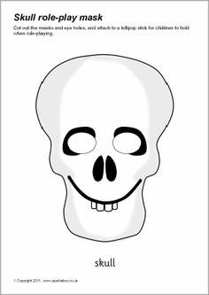 Skeleton skull role-play mask (SB6990) - SparkleBox