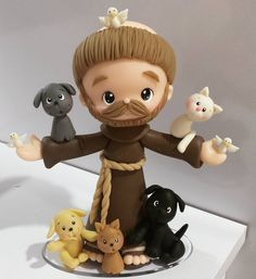 #saofrancisco Polymer Clay Figures, Fimo Clay, Polymer Clay Projects, Clay Crafts, Baby Puppet, Cold Porcelain Tutorial, Catholic Kids, Cute Clay, Fondant Tutorial