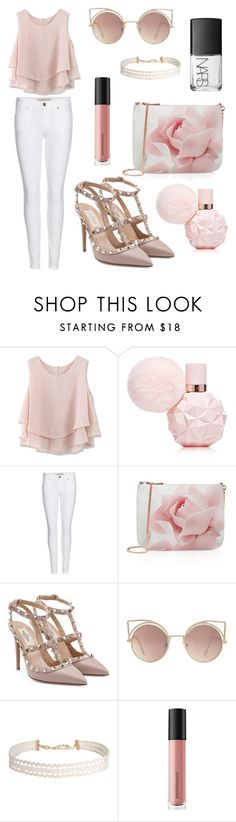 """pastel"" by therealnajwa on Polyvore featuring Chicwish, Burberry, Ted Baker, Valentino, MANGO, Humble Chic, Bare Escentuals and NARS Cosmetics"