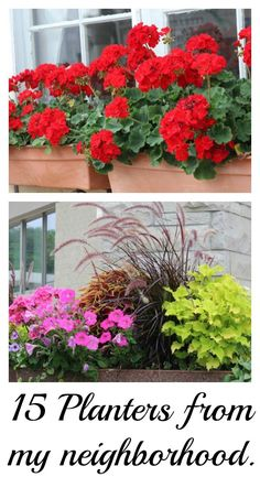 15+ Pretty Planters - in my community! For some DIY and idea inspiration.  Plant your own containers!  It's easier than you think! - Momcrieff