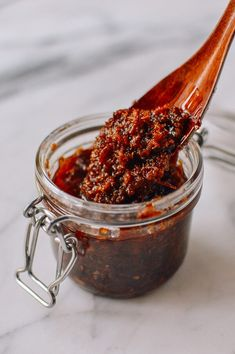 XO sauce is made from dried shrimp & scallops, salty Jinhua ham, shallots, garlic, chili, and oil. XO sauce is epically delicious and an explosion of umami!